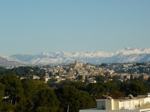 The view of the Cagnes-sur-Mer castle from our balcony.